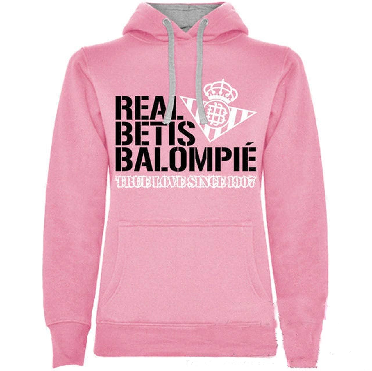 adp Sudadera para Mujer Real Betis Balompié. Color Rosa/Talla L/Ancho: 53cm Largo: 67cm: Amazon.es: Ropa y accesorios