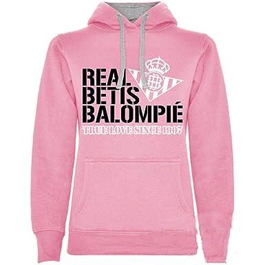 adp Sudadera para Mujer Real Betis Balompié. Color Rosa/Talla S/Ancho: 47cm Largo: 63 cm: Amazon.es: Ropa y accesorios