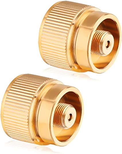 Copper LPG Adapter Camping Propane Mini Tank Input Lindal Valve Output Connector