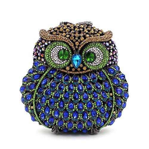Bags Flada Evening Purse Party Rhinestone Handbags Evening 8 Women's Clutches Luxury Owl c88wxrq7ag