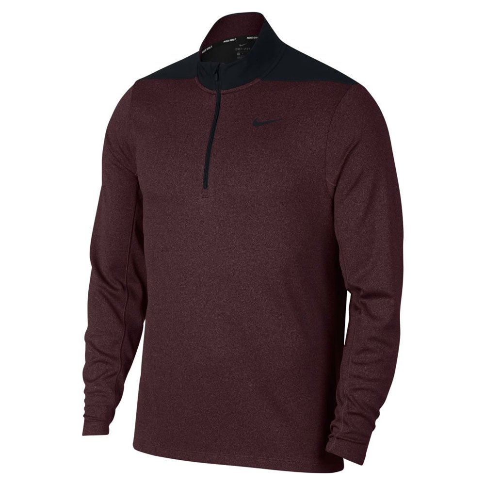Nike Dry Top Half Zip Core Golf Pullover 2019 Black/Burgundy Crush Small by Nike