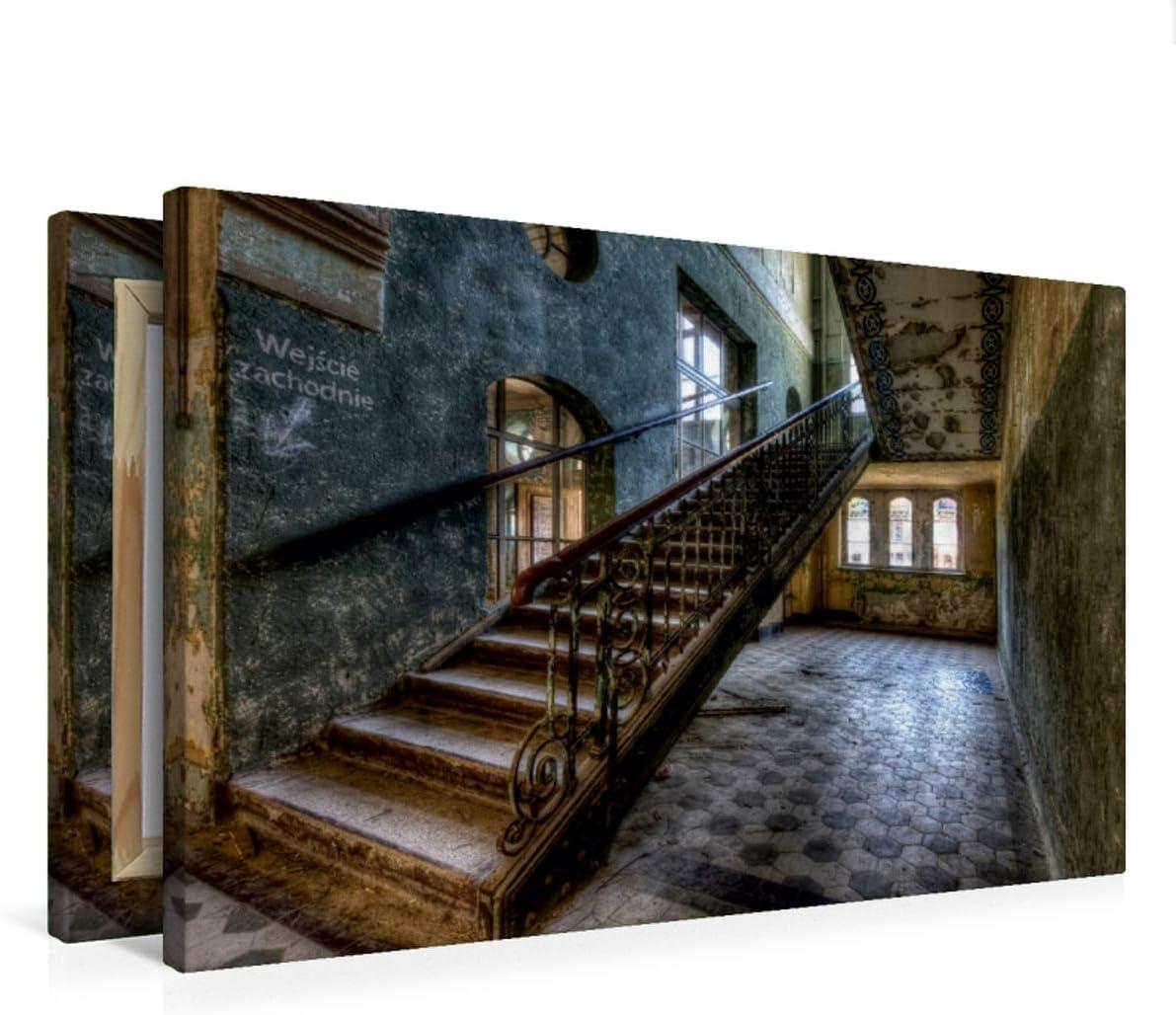 CALVENDO Premium Lienzo 75 cm x 50 cm Horizontal, Lost Place – Escalera Imagen de Pared, Imagen sobre Bastidor, Listo en Lienzo auténtico, impresión en Lienzo: sanatorio Kunst Arte: Buchspies, Carina: Amazon.es: Hogar