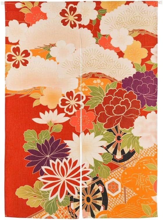 Chinashow 33 x 47 Pouces Style Japonais Porte Rideau Couloir entr/ée Restaurant /épaississement Rideau Floral noren Rideau avec Tige t/élescopique