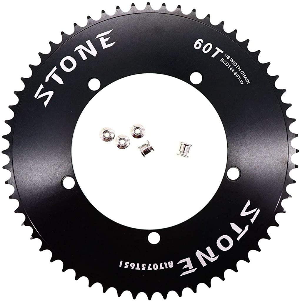 "MOJO Fixed Gear Chainring 48T 110 BCD Track Fixie single speed 1//8/"" BLACK"