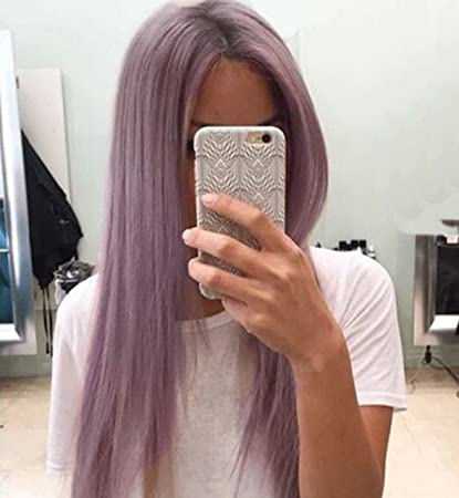 Peluca de pelo largo de Vébonnie, pelo sintético liso, con encaje frontal, rubio
