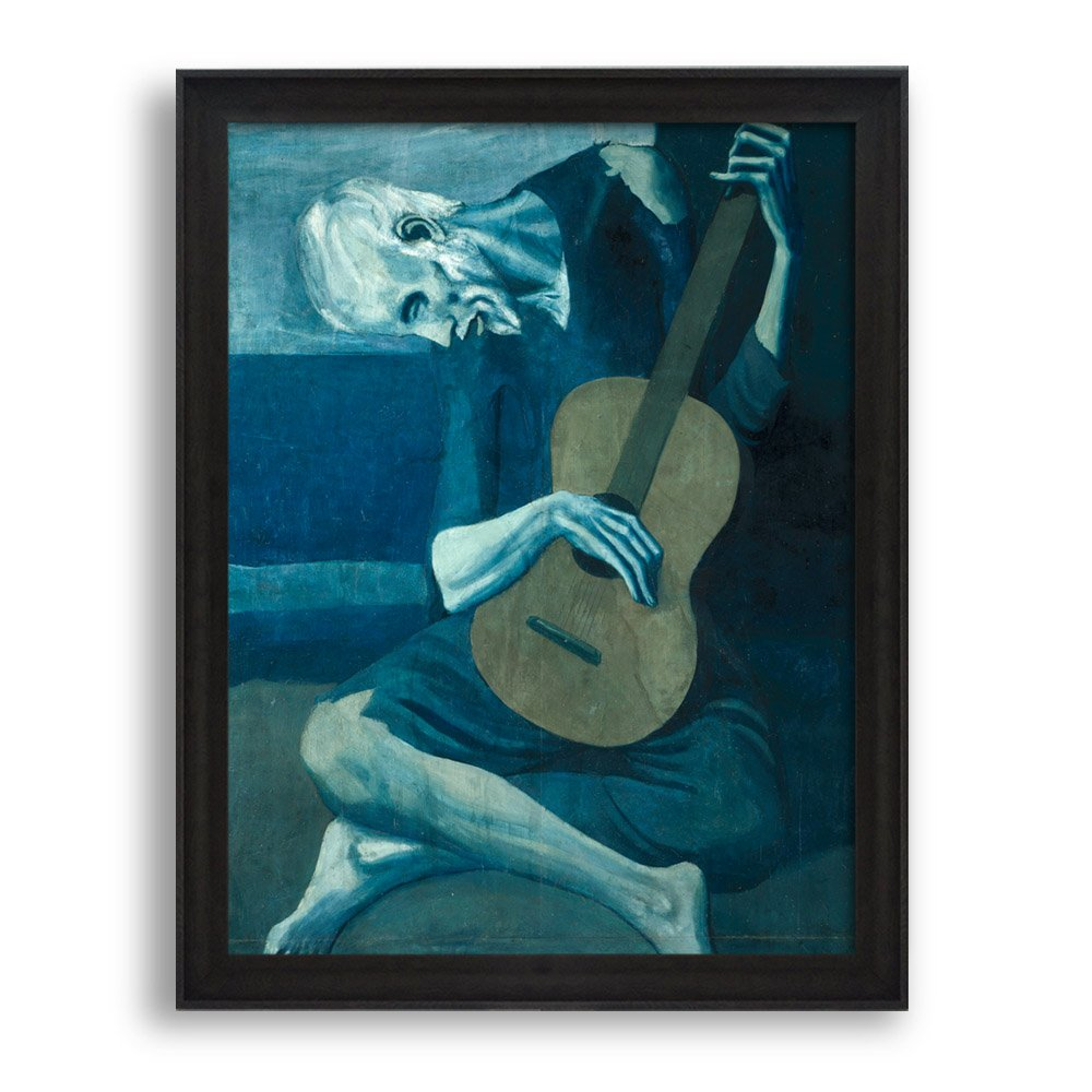Framed Art The Old Guitarist by Pablo Picasso Famous Painting Wall ...