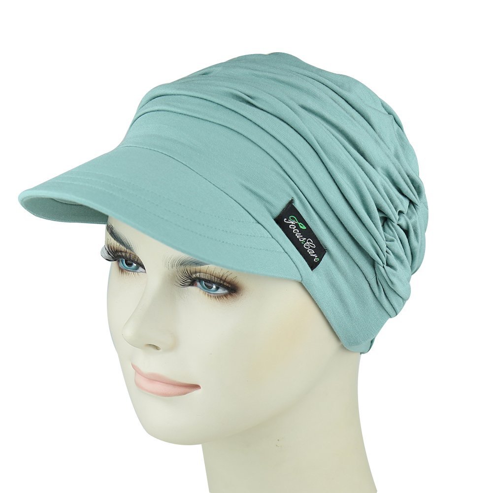 Bamboo Baseball Cap For Chemotherapy Women Easy Wear Head Cover For Patients Hair Loss Classic Cotton Cap Medical Gifts by FocusCare