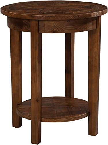 Bolton Furniture Revive – Reclaimed Round End Table, Natural