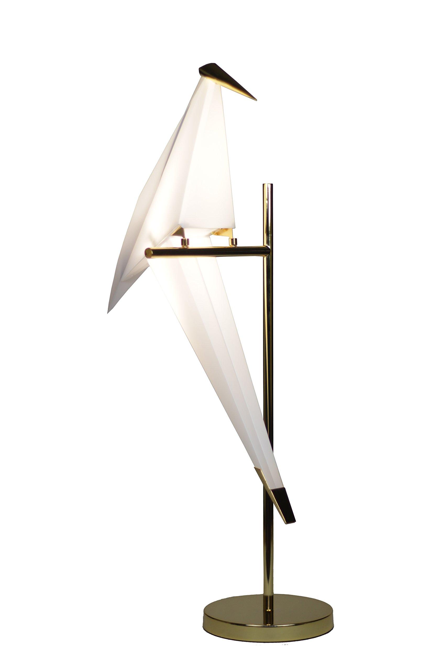 ویکالا · خرید  اصل اورجینال · خرید از آمازون · EQLight EQBLT03 Birdie Light Origami Fauna Bird Table Lamp, Gold wekala · ویکالا