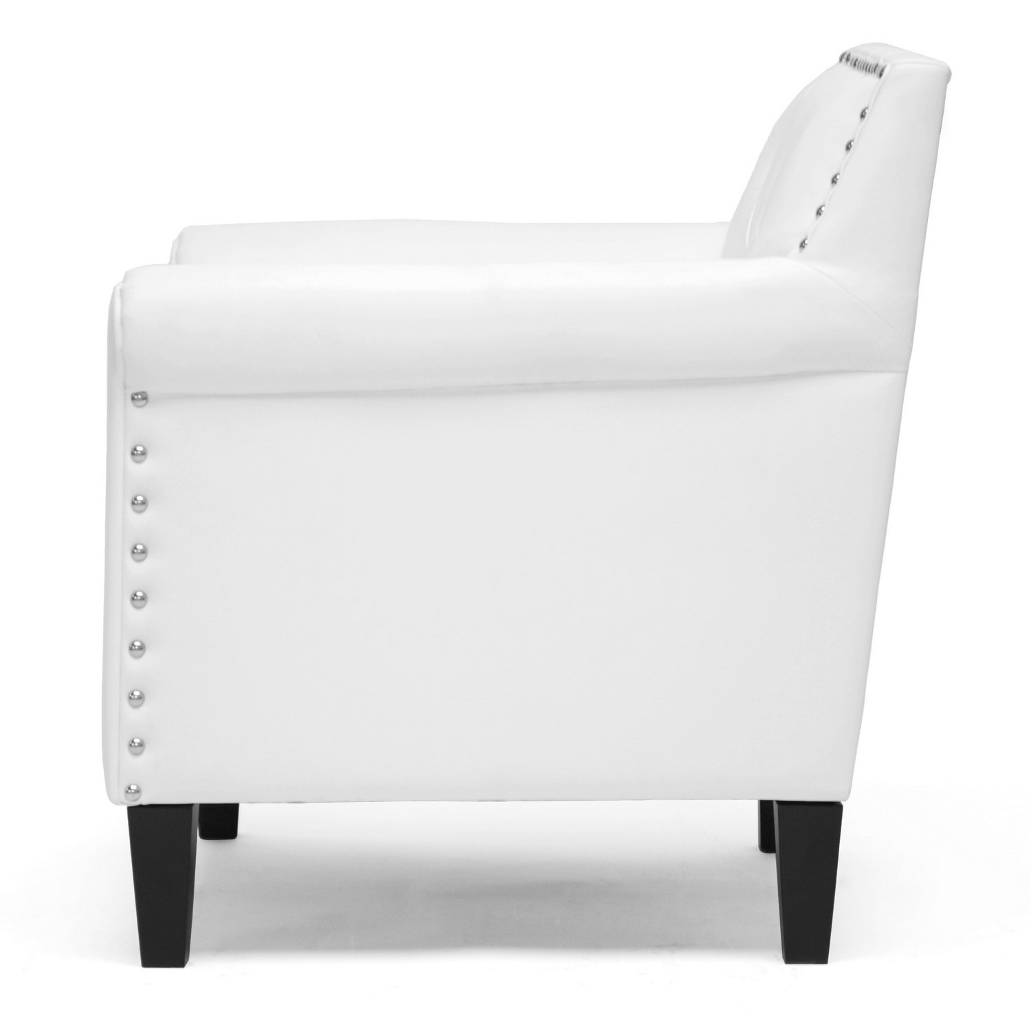 amazoncom  baxton studio thalassa modern arm chair white  chairs -