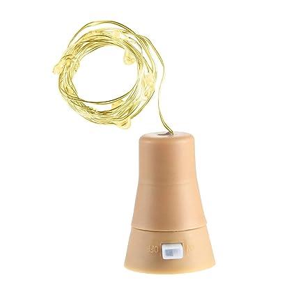 Lámpara solar LED en botella de A-SZCXTOP, botella de vino con corcho,