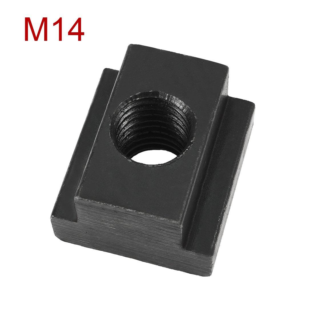 sourcingmap Stahl T-Nut Mutter Grad 10.9 Gewinde durch M14 Gewinde 5//16 Schlitz Tiefe DE de