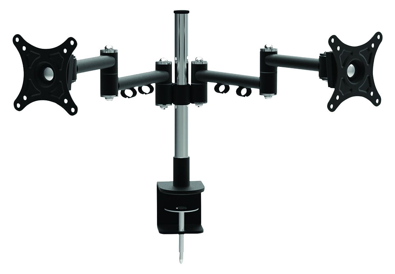 Electrovision Desktop Twin Pivot Doppel Flachbildschirme Halterung