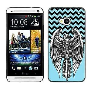 Dragon Case - FOR HTC One M7 - Manners make the man - Caja protectora de pl??stico duro de la cubierta Dise?¡Ào Slim Fit