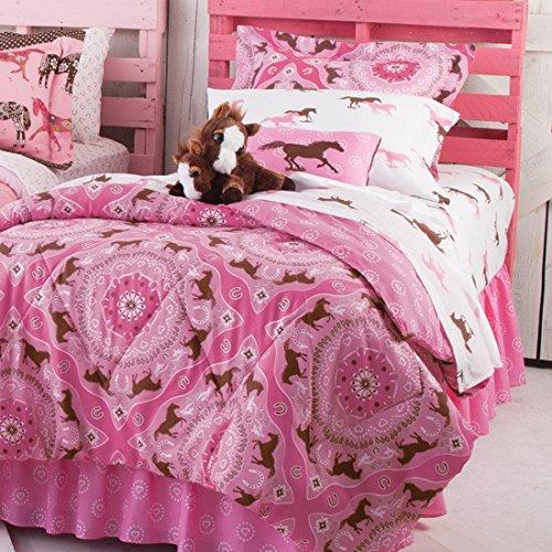 Pink Pony Bandana Horse Print