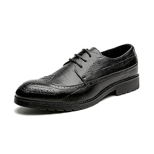 Lederschuhe Herren Lederschuhe Klassische PU-Leder Brogue Schuhe Klassische  Lace up Breathable Formale Business Ausgekleidet 53598c2a63