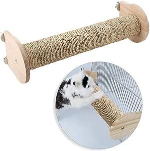 HEEPDD Poste rascador para Gatos, Madera Natural y sisal para Gatos, rascador de Gatos, Juguete Divertido para Jugar a la Escalada: Amazon.es: Productos para mascotas