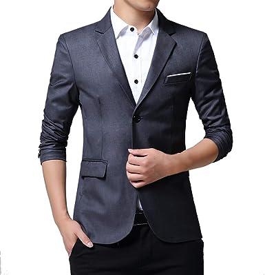 Men/'s Slim Long Sleeve Blazer Tops Lapel Windbreaker Jacket Winter Outwear Coat