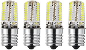 Rayhoo Microwave Oven Appliance Light E17 Base LED Light Bulbs 110V 3W Dimmable, 30W Halogen Bulb Equivalent, White 6000K (Pack of 4)