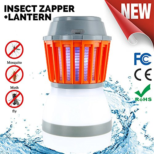 Odar 2-In-1 Bug Zapper & Camping Lantern - Rechargeable LED Lantern - IPX67 Waterproof Mosquito Killer - Portable Tent Light - Lightweight Camping Gear and Accessories – For Residential and Outdoors by Odar