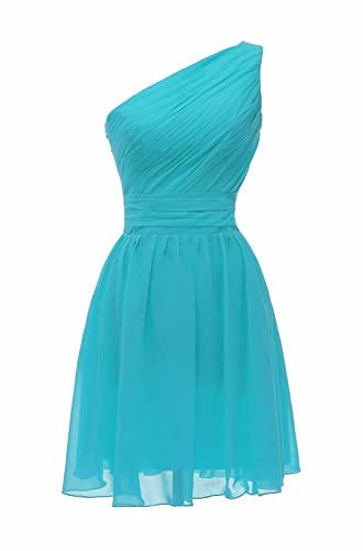 ThaliaDress Short One Shoulder Bridesmaid Evening Dresses Prom Gowns T195LF