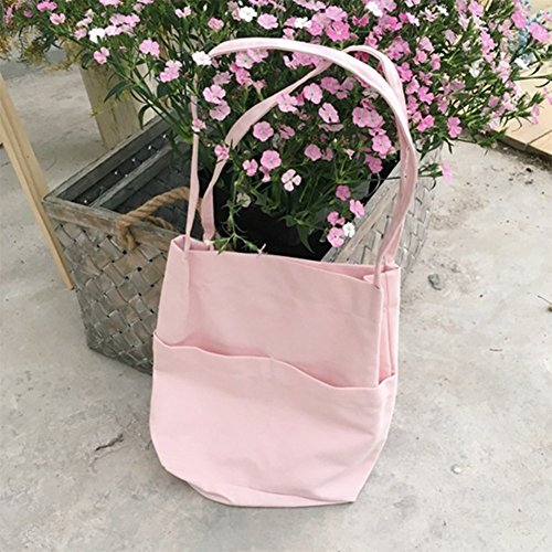 Pink Square Canvas Lumanuby Khaki Casual Large Shopping Lady Tote Handbag Shoulder Bag UPqqp6