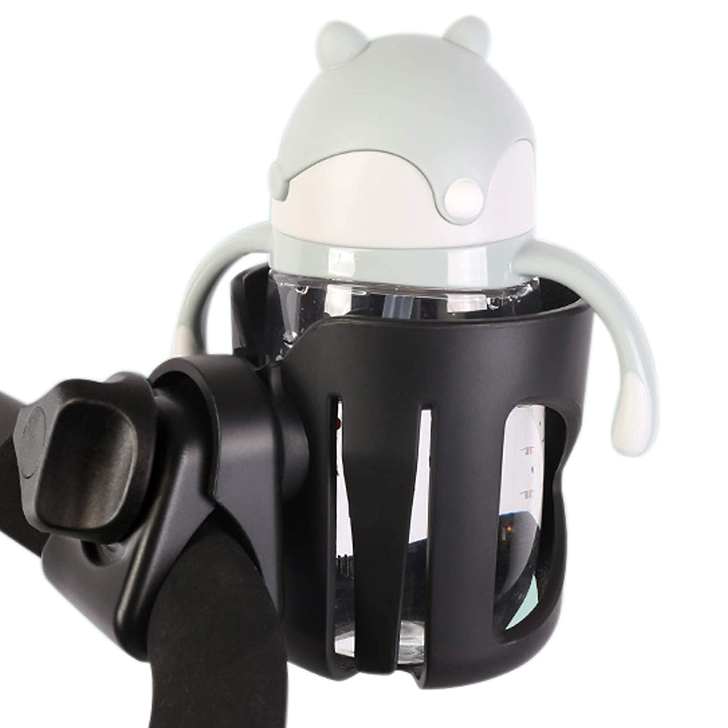 Adjustable Stroller Cup Holder, Rotating Cup Holder, Non-Slip Bike Cup Holder, Wheelchair Cup Holder, Universal Baby Bottle Holder Fits Every Vista, Curz, and Minu Model: Baby