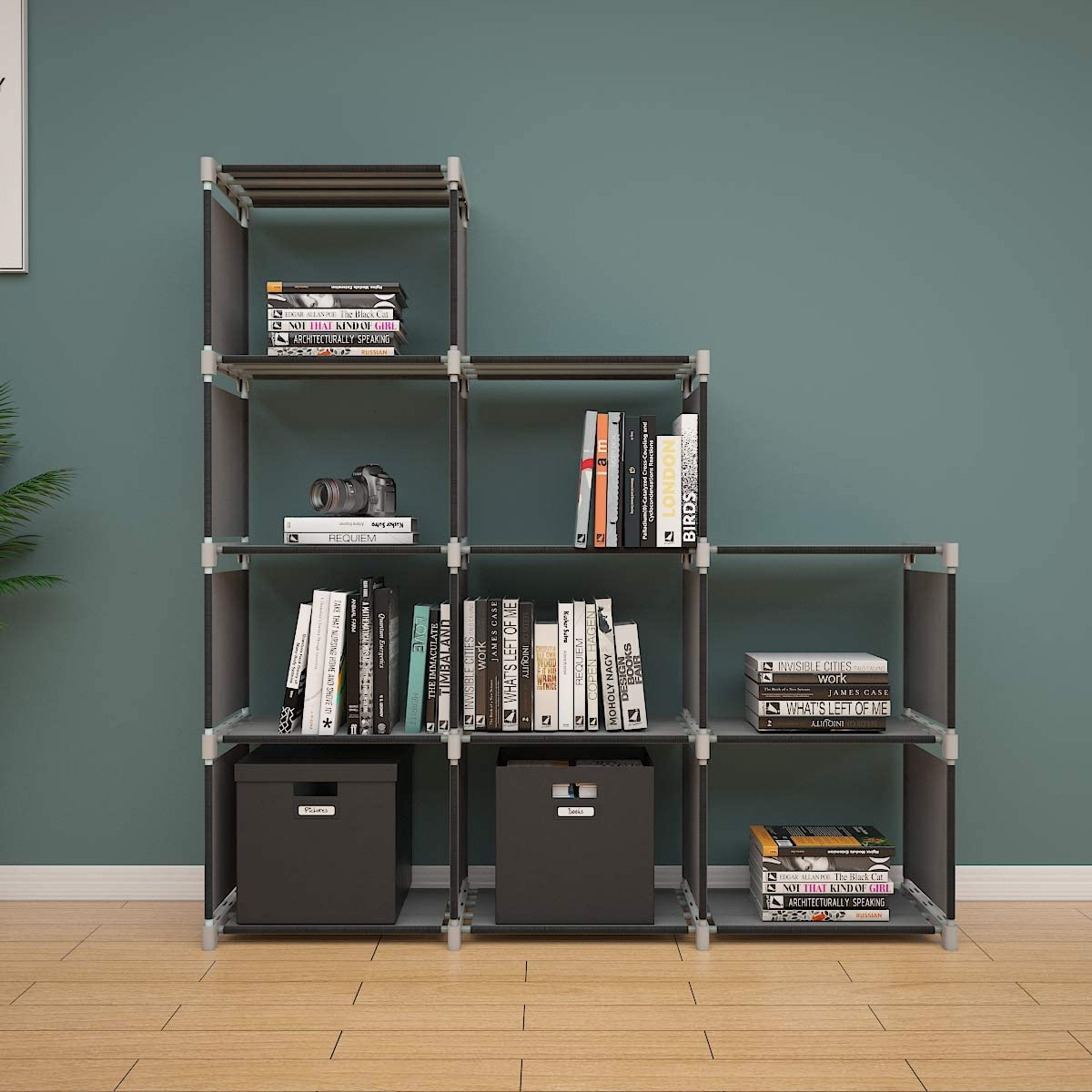 Soges 3-Cube Storage Organizer Storage Shelves Bookcase Bookshelf Clothes  Cabinets Storage Cubes Bins Cubbies Shelving for Bedroom Living Room Office