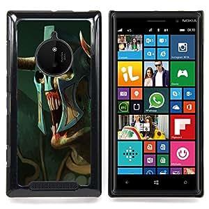 - Monster Alien Warrior Art Mask Blue Eyes - - Snap-On Rugged Hard Cover Case Funny HouseFOR Nokia Lumia 830