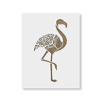 amazon co jp 22cm x 28cm flamingo stencil template reusable