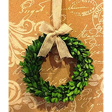 Flora Décor Garden Variety Preserved Boxwood Round Wreath 8