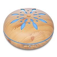 Seamei 550ml control remoto Humidificador Ultrasónico Aromaterapia, Difusor de Aceites Esenciales de Vapor Frío,7-Color LED y 4 Ajustes de Tiempo,Perfecto para Hogar, Oficina,Bebé,Dormitorio y Baño