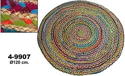 Supernova Decoracion-Alfombra Redonda de algodón y Yute con ...