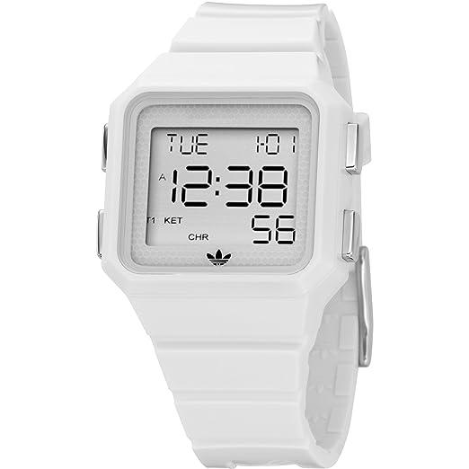 Adidas Originals ADH4000 - Reloj de caballero de cuarzo, correa de caucho color blanco: Adidas: Amazon.es: Relojes