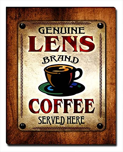 ZuWEE Lens's Coffee Family Name Gallery Wrapped Canvas Print Coated Espresso Lens