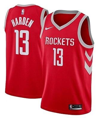 top fashion 23159 23d56 Amazon.com: Nike Men's Houston Rockets James Harden Red ...