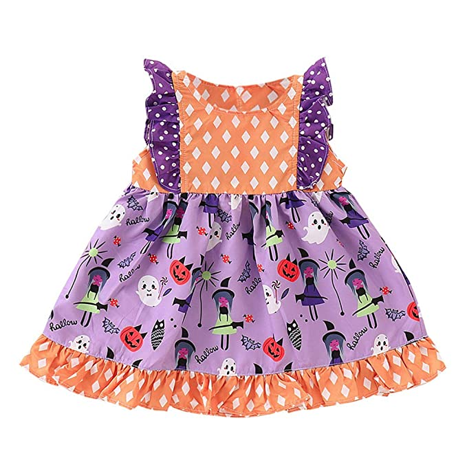 MAYOGO Niña Vestido Princesa Estampado Ropa Elegante Bebe ...