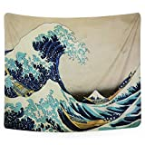 PANDAYAQ Tapestry Wall Tapestry Wall Hanging Tapestries The Great Wave off Kanagawa by Katsushika Hokusai Thirty-six Views of Mount Fuji Tapestry Wall Blanket Wall Decor Wall Art Home Decor