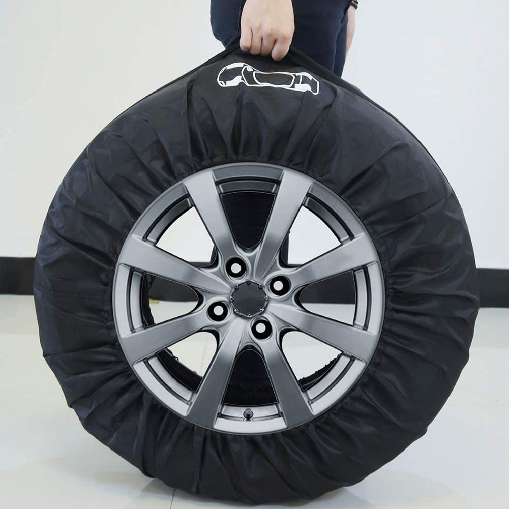 Shentesel Car Spare Tire Cover Auto SUV Tyre Protector Storage Bag Wheel Case Accessories 1#