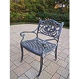 Oakland Living Hummingbird Cast Aluminum Arm Chair, Antique Bronze