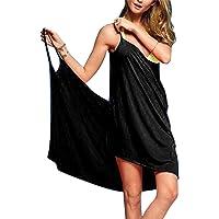 b57f84d0cb Baonmy Sexy Women Spaghetti Strap Bikini Cover Up Beach Backless Wrap Dress
