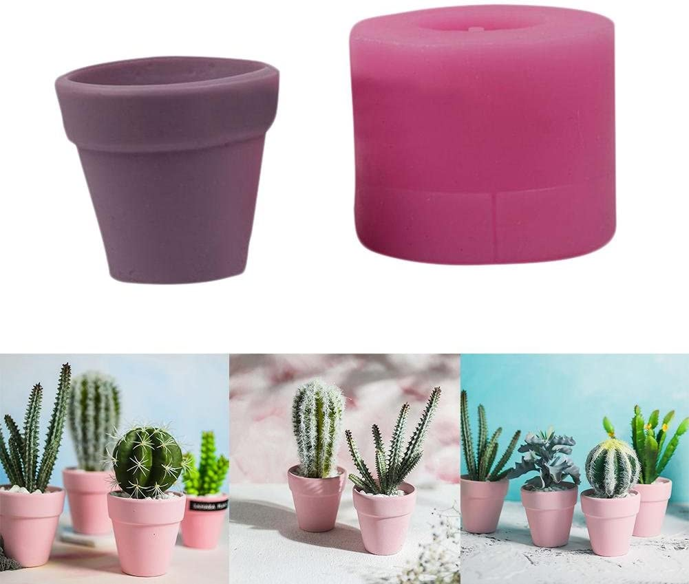 DIY Clay Resin Craft Molds Perfect For Handmade Candy//Chocolate//Ice//Soap//planter Mold Cute 3D Barrel Flower Succulent Plant Silicone Planter Mold