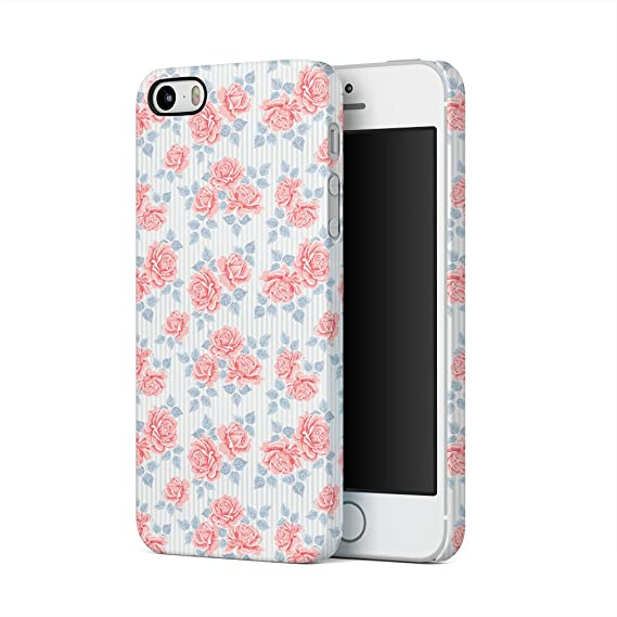 Vintage Pink Roses And Lines Pattern Tumblr Apple IPhone 5 5s SE