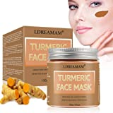 Clay Brightening Face Mask,Clay Brightening Face Mask,Turmeric Face Mask,Blackhead Remover Mask,Improves Overall Complexion,