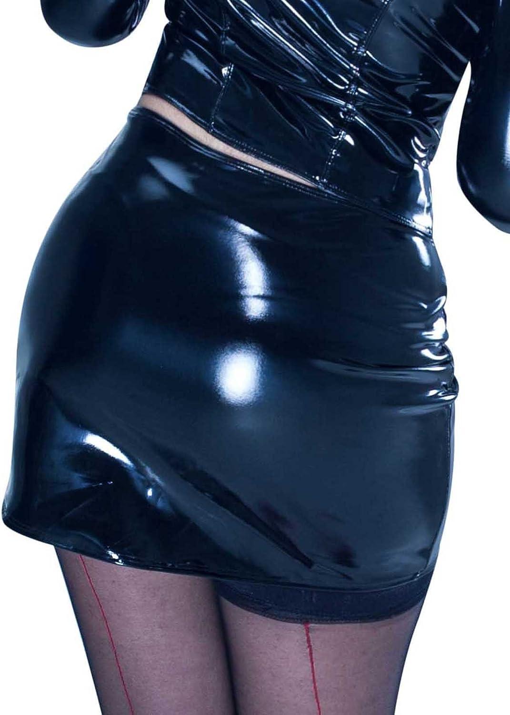 Patrice Catanzaro Demon Vinyl Black Miniskirt Wetlook Made in France S to 3XL
