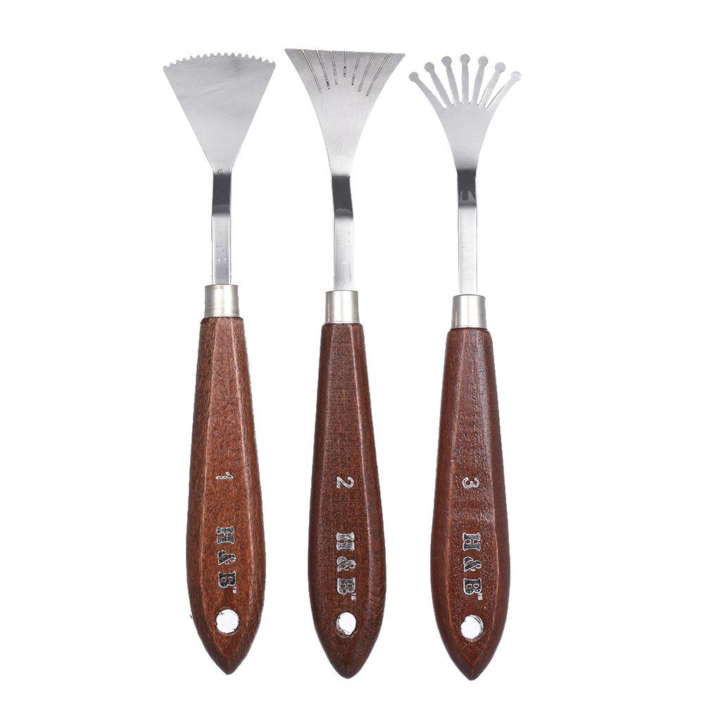 die Schaber-Spachtel-Kunst-Werkzeuge mischend 9pcs Paletten-Messer stellten f/ür /Ölgem/älde-Spezialeffekt-K/ünstler ein