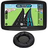"""TomTom (1AA5.019.01 Automobile Portable 5"""" GPS Navigator w/Lifetime Traffic and Lifetime Maps + Deco Gear Universal Weighted GPS Navigation Dash-Mount"""