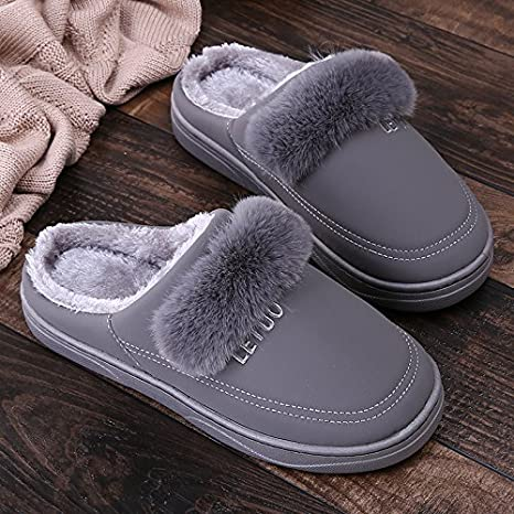 . Lovers Slippers , Cotton Slippers With Warm Soles Winter In Women,42-43 Aemember Winter Slippers For 40-41 Foot Wear Anti Slip MenS Home