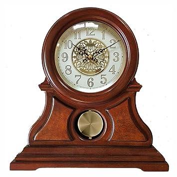 Relojes de mesa para Sala de Estar Decoración Dormitorio Relojes de Escritorio Funcionamiento con batería Analógico Europeo Vintage Retro Sin tictac ...