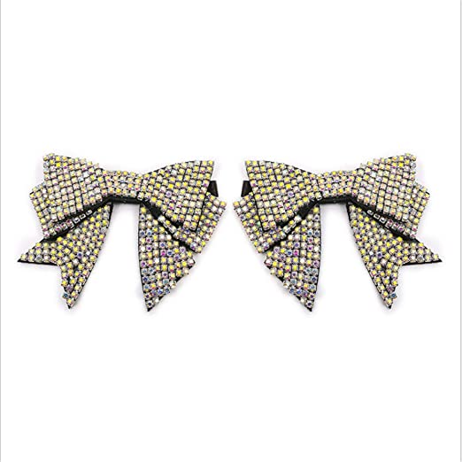 Handmade Bow Butterfly Rhinestone Shoe Flower Shoe Straps Band 2 Pcs Numblartd 1 Pair Women Lady DIY Shoes Decoration Charms Accessories for Flats High Heels and Pumps Holder Shoe Decor